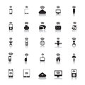 Hotspot icons wireless file eps format Royalty Free Stock Image