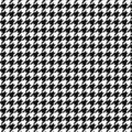 Hounds tooth vector pattern ornament. Geometric print in black and white color. Classical English background Glen plaid for fashi