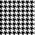 Houndstooth Check Black & White Fabric Pattern Texture Royalty Free Stock Photo