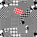Houndstooth pattern Royalty Free Stock Images