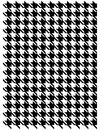 Houndstooth pattern background of continuous hounds tooth Stock Images