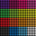 Houndstooth Patterns Royalty Free Stock Photo