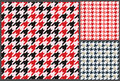 Houndstooth patterns set for clothes Royalty Free Stock Photo