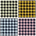 Houndstooth seamless pattern Royalty Free Stock Photography