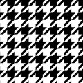 Houndstooth seamless pattern black and white, vector Royalty Free Stock Photo