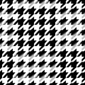 Houndstooth seamless pattern for clothes design.Trendy fabric ab Royalty Free Stock Photo