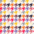 Houndstooth seamless pattern colorful can be used for wallpaper fills web page background surface textures Royalty Free Stock Photography
