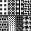 Houndstooth seamless pattern Royalty Free Stock Photo