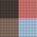 Houndstooth Seamless Patterns Set Royalty Free Stock Photo