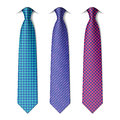 Houndstooth and zigzag patterns ties Royalty Free Stock Photo