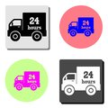 24 hour delivery. flat vector icon