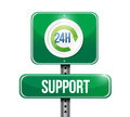 Hour support road sign illustration design over white Stock Photography
