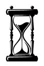 Hourglass black silhouette of on a white background Royalty Free Stock Images