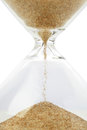 Hourglass close up of with sand Royalty Free Stock Images