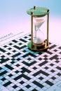Hourglass on Crossword Puzzle