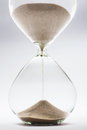 Hourglass detail on white background Royalty Free Stock Images