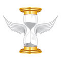 Hourglass golden flies with wings Stock Photography