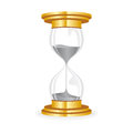 Hourglass golden white background Royalty Free Stock Photography