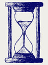 Hourglass sketch Royalty Free Stock Photos