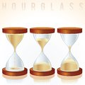 Hourglass three different states vector graphics vintage Royalty Free Stock Images