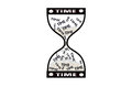 Hourglass time concept, Time goes by Royalty Free Stock Photo