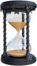 Hourglass Time Piece Illustration, Isolated Royalty Free Stock Photo