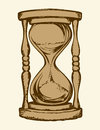 Hourglass. Vector drawing Royalty Free Stock Photo