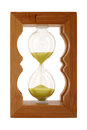 Hourglass wood protected amber clipping path Royalty Free Stock Photography
