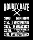 Hourly rate graphic Royalty Free Stock Photo