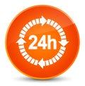 24 hours delivery icon elegant orange round button