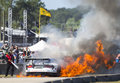 Hours of sebring fl mar the riley motorsport dodge viperexchange com goes up in flames after a crash early in the at Stock Images