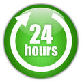 Hours service green icon Royalty Free Stock Photo