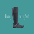 Hourse riding boots vector illustration