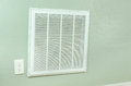 House air conditioner filter intake vent on wall Royalty Free Stock Photo