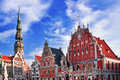 House of the blackheads in riga capital latvia Royalty Free Stock Images