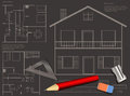 House blueprint background construction vector Stock Image