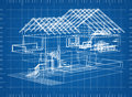 House blueprint Royalty Free Stock Photo