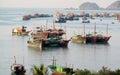 House boat in Ha Long Bay near Cat Ba island, Vietnam Royalty Free Stock Photo