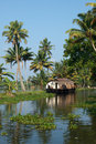 House boat on Kerala backwaters Stock Images