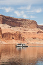 House Boating on Lake Powell Royalty Free Stock Photo