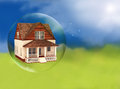 House in a bubble room for text or copy space Stock Photo