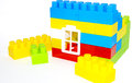 House building from lego bricks on a white Royalty Free Stock Photo