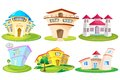 House and building vector illustration of Royalty Free Stock Image