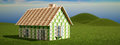 House built with euro banknotes d rendering of a Stock Images