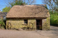House in Bunratty Folk Park - Ireland. Stock Image