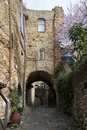 House in bussana vecchia stone the village of liguria Royalty Free Stock Photography