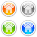 House buttons. Stock Images