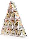 House of cards isolated on white Royalty Free Stock Photo