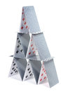 House of cards a on a white background Royalty Free Stock Image