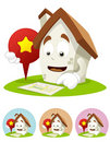House Cartoon Mascot - direction Royalty Free Stock Image